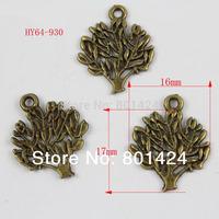 free shipping 90pcs 64-930 vintage bronze tree flower  jewelry charm   diy decoration fashion metal beads  jewelry charm