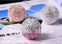 MINI Car ornament pendant diamond element lucky crystal ball, Cooper one interior rear view mirror hanging Ornament decoration