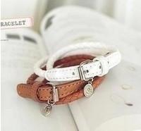 Free Shipping Fashion Bracelets Leather Bracelets Wrap Environmental Bracelets Wholesale 12PC/lot Personality Bracelet