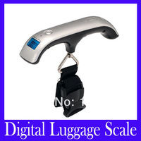 Free shipping Portable 50kg*10g Weight Hanging Handheld Backlight LCD Display Digital Electronic Luggage Scale,MOQ=1