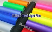 2014 A+++12 colors  0.3 x 10m Roll  Auto Car  Brilliant  Light film Headlight Taillight Foglight Tint Vinyl Film