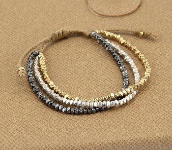 Innovative 3 Цветs Metal Beads FriendsТаз Bracelet Handmade Bracelet Vintage Statement ...