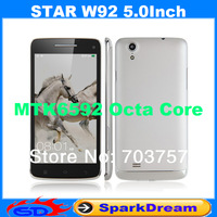 Star W92 Phone With MTK6592 Android 4.2 Octa Core 2GB 16GB 3G GPS Gesture Sensing 5.0 Inch Screen SmartPhone