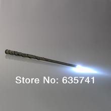 Harry Potter Hogwarts Hermione Granger's LED Illuminating tip Magical Wand Free Shipping(China (Mainland))