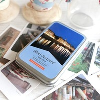 NEW  Italy theme photo mini postcard stationery with tin box 6.5*10cm 40sheets/set