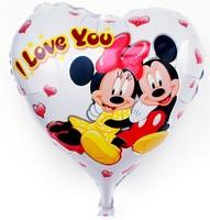 High Quality 18inch Cartoon Mickey Mouse Peach Heart Foil Balloons Wedding Party Decoration Balloon LOVE Helium Balloon