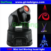 Free shipping 15W LED Mini Moving Head Spot Disco Light stage lights