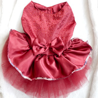 Pet clothing dog clothes Rhinestone wedding dress dog princess skirt for dogs