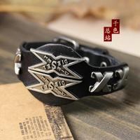Cool Punk Special Design Genuine Leather Bracelets Men Woman Bracelet Wristband