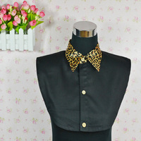 2014 new fashion all-match leopard print peaked collar turn-down collars shirt false collar shirt 72