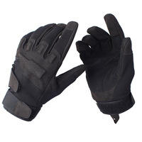 Outdoor products black hawk male ride full finger gloves black