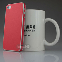 Free shipping cute red Full Body Screen Protector Case Cover Film Skin For Apple iPhone 4 4S