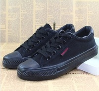 Free Shipping Black Sneakers for  Men Classic low Star Canvas Shoes Casual Shoes size 39-44