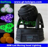 New ultra bright 60W Led Moving Head Spot Light 16DMX Ch, 3-Facet Prism, 60W LED Moving Light 110V-240V, White Shell, 2pcslot