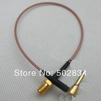 2pcs/lot  RG316 SMA female jack to MS-156 MS156 plug male  test probe cable leads 20CM