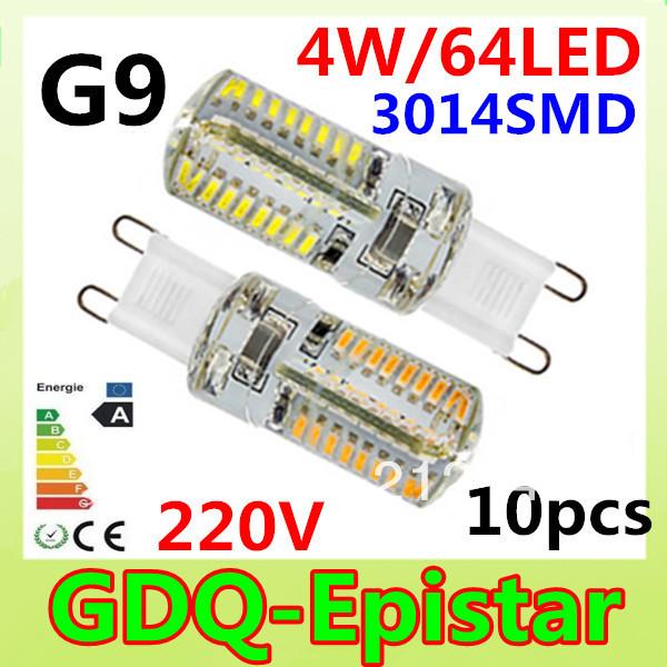 Светодиодная лампа GDQ-Epistar 10pcs/lot G9 4W 3014 SMD 280LM /ac220/240v