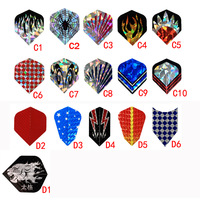 100PCS Dart Flights Throwing Toy different color can shooes