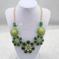 Brand Fashion Grass Green Flower Choker Necklace 2014 New Jewelry Women Wholesale Free Shipping JY0221025625