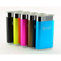 S209  8800mAh universal mobile power bank 2USB Li-lion battery cell 5 LED light for multiple devices  mobiles
