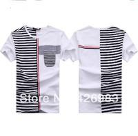 2014 Free shipping brand new summer men's fashion cotton short-sleeve T-shirt men's t shirt mens tops tees,30