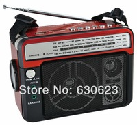 The latest  FM/AM/SW Radio with recording function and torch light support USB/SD built in rechargeable battery