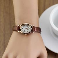 free shipping wholesale discount, unique beautiful design women's ladies fashion wrist quartz watches leather strap
