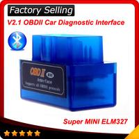 2014 Mini V2.1 ELM327 ELM 327 Bluetooth Interface Auto Car Scanner obdii obd ii Diagnostic Tool works on Android Windows Symbian