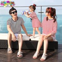 freeshipping 2014 summer new children clothes brand fringe cotton dresses/t shirt beachwear Family Pack,for mom,girl,boy,dad