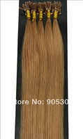 "Remy AAA Stick Tip 100 Strands 26""=66cm Long 0.5g/s 100% Human Hair Extensions #12 Light Brown&50g"