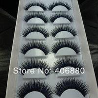 Black dense false eyelashes nightclub makeup ultra long thick false eyelashes Free Shipping