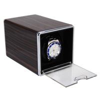 FW0021001E New 2014 Ebony+Plastic Rectangle Mute Automatic Single Watch Winder Brand Watch Box Gift High Quality Free Shipping