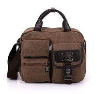 Men Canvas Handbag Shoulder Bag Messenger Bag Vintage Casual Business Briefcase