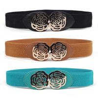 3026 flat rose elastic wide belt waist female , decoration cronyism 45 belt