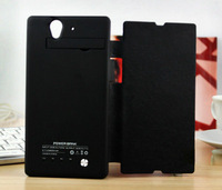 High Capacity 4200mah External Battery Charger Power Bank Case with Flip For Sony Xperia Z L36H C6603 C6602