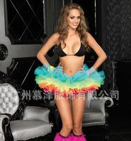 S682 2014 Free shopping Leg Avenue Women's Rainbow skirt Organza Tutu