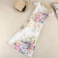2014 Summer  women's plus size  one-piece dress vest cotton sarong female Free shipping S M L XLA139