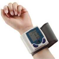 1PCS Digital LCD Wrist Cuff Arm Blood Pressure Monitor Heart Beat Meter Machine