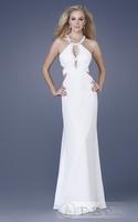 Fashion fish tail formal dress sexy racerback white toast evening dress custom made