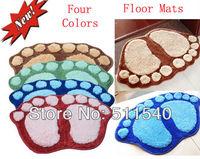 2pcs/lot Free Shipping Non-slip Foot Pad Mat Footprint high gross feet mat For Kitchen Bathroom Bedroom Floor Carpet Pad