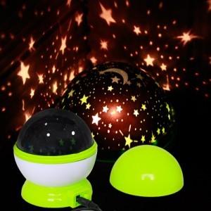 Automatic rotary dream luminous lamp star projector light sleep romantic birthday gift(China (Mainland))