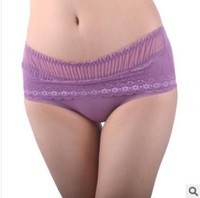 Free shipping new 2014 Home Furnishing women The lovely ladies sexy lace underwear seamless antibacterial briefs