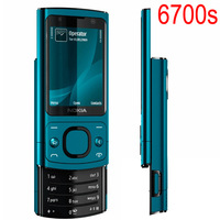 Hot sale Phone Original NOKIA 6700 Silder Mobile Phone 3G GSM Unlocked 6700s Phone Blue & English Russian Arabic Keyboard