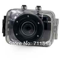"Free Shipping 2.0"" LCD Water-proof HD DVR Recorder Sport DV with 1080P 30FPS+ 120 Degree Wide Angle+9712 Lens Sport Car DV20"