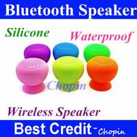 freeshipping Mushroom Mini Bluetooth Speaker Wireless Hands free Waterproof Silicone Suction Wireless Speaker in stock