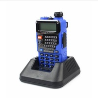 Free Shipping!! 2014 BaoFeng New Blue Baofeng UV-5RE Plus UHF+VHF 136-174MHz/400-520MHz FM VOX Walkie Talkie
