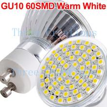 5pcs GU10 3528 SMD 60 LED Spot Light Bulb Lamp Spotlight New Model 1 LED0019(China (Mainland))