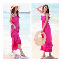 2014 New Ladies Cotton Fashion ankle length stretch of beach dress Wholesale and retail one color free shipping TH-201