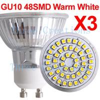 30pcs GU10 Warm White 48 3528 SMD LED Spot Light Bulb Lamp 3W LED0031