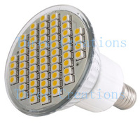 10pcs E14 Warm White 60 SMD LED Spot Light Bulb Lamp 220V US LED0021