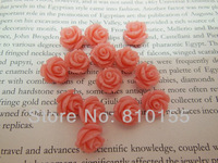 50pcs 12mm Pink Natural Coral Beads Carved Rose Beads Hole Thread